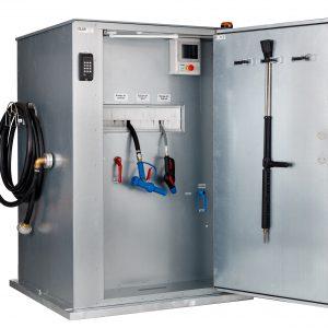 PLC styrede vand- og tappestationer, få kontrol med vandforbruget på vaskepladsen.